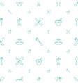 spoon icons pattern seamless white background vector image vector image