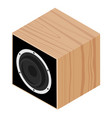 subwoofer isometric view isolated on white vector image vector image