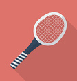 Tennis racket icon Modern Flat style with a long vector image vector image