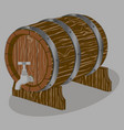 the barrel vector image vector image
