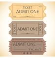 three tickets vector image