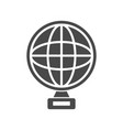 trophy icon of globe shape vector image vector image