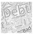 What Is Bad Credit Debt Consolidation Word Cloud vector image vector image
