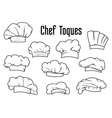 White chef caps and toques set vector image vector image