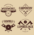 woodwork badges set carpentry woodworkers