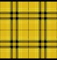 yellow and black tartan plaid scottish pattern vector image vector image
