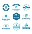 Blue dental labels vector image