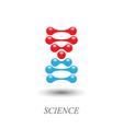 DNA molecule logo vector image