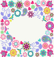 floral Summer Invitation Design vector image