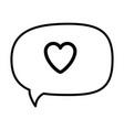 thinking love speech bubble vector image