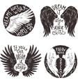 Wings Label Set vector image