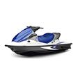 Jet boat vector image