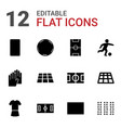 12 soccer icons vector image vector image
