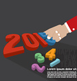 2015 Greeting Card Design vector image vector image