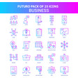 25 blue and pink futuro business icon pack vector image vector image