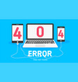 404 error page not found flat vector image vector image