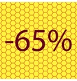 65 percent discount icon symbol Flat modern web vector image vector image