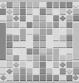 abstract background with 3d squares in grey scale vector image
