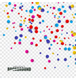 abstract background with confetti vector image vector image