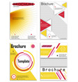 abstract business template set brochure layout vector image vector image