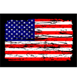 american flag grunge independence 4th july vector image