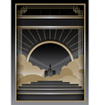 Art Deco Background and Frame vector image