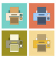 assembly flat icon computer printer vector image vector image