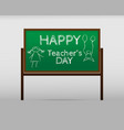 banner or poster for happy teacher s day with vector image