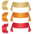 banners ribbons set vector image vector image