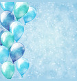blue balloons background vector image