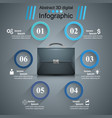 briefcase office - business infographic vector image