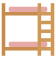 bunk beds icon with flat style eps10 vector image