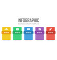 business infographic concept vector image vector image