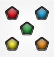 button pentagon vector image vector image