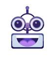 cartoon robot face smiling cute emotion open mouth vector image vector image