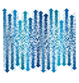 chekered gradient blue arrows vector image