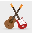 collection electric guitar and traditional guitar vector image vector image