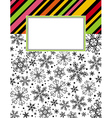 color background with christmas elements vector image vector image