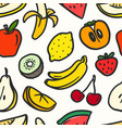 color summer fruits seamless pattern pattern vector image