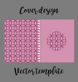 cover design with pink japanese pattern vector image