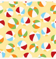 cute summer pattern with balls vector image vector image