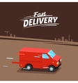 Delivery Concept Fast delivery van Fast delivery vector image vector image