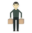 delivery man cartoon character vector image vector image