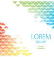 design template lorem ipsum poster vector image vector image