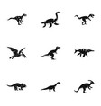 dinosaur icons set simple style vector image vector image
