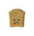 dry bread isolated dead food emoji vector image vector image