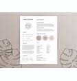 elegant feminine cv resume template vector image vector image