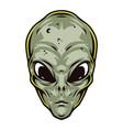 extraterrestrial green head vintage concept vector image