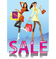 Fashion girls in sale campaign vector image vector image