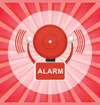 fire alarm poster vector image vector image